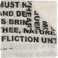 Rick Owens Drkshdw Echarpe Typeface - Branco