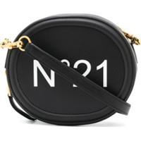 Nº21 Bolsa Transversal Com Estampa De Logo - Preto