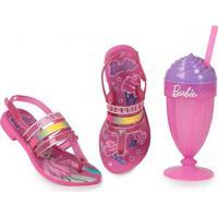 Sandália Infantil Grendene Barbie Milkshake Pink