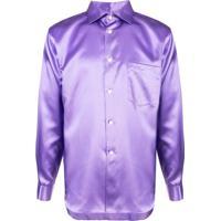 Posthaus  Comme Des Garçons Homme Plus Camisa Clássica - Roxo bbb163581ffdd