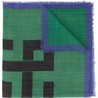 Haider Ackermann Echarpe De Lã Com Estampa - Verde