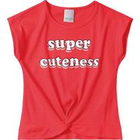 Blusa Canelada Super Cuteness Menina Malwee Kids
