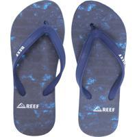 Chinelo Reef Switchfoot Old Line Azul-Marinho