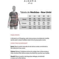 Blusa Estampada Almaria Plus Size New Umbi Botões