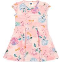 Vestido Bebê Flores E Coroas Rosa - Marlan