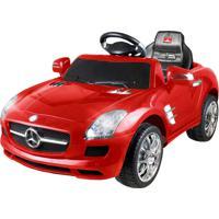 Mini Carro Elétrico 6 Volts Mercedes Benz Vermelho Xalingo