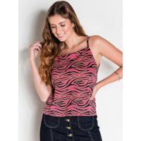 Blusa De Alças Zebra Colorida