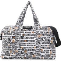 Moschino Kids Bolsa Maternidade Com Estampa De Logo - Branco