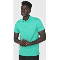 Camisa Polo Dudalina Curta Logo Verde