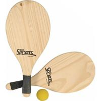 Kit Frescobol Tênis De Praia - Bel Sports - Unissex