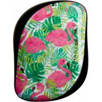 Escova De Cabelo Tangle Teezer Compact Styler Skinny Dip Palm Flamingo Preto