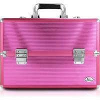 Maleta Profissional De Maquiagem Grande Jacki Design Beauty Pink - Tricae