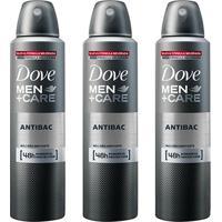 Kit Desodorante Dove Men + Care Aerosol Antibac Masculino 150Ml 3 Unidades - Masculino-Incolor