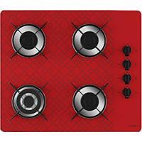 Cooktop 4 Bocas Tripla Chama Tetris Vermelho Bivolt