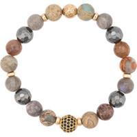 Nialaya Jewelry Faceted Stone Bracelet - Estampado