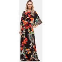 Vestido Longo Estampado Recorte Faluris - Lez A Lez