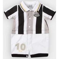 Macacão Santos Infantil Uniforme Campo Bebê - Masculino