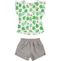 Conjunto Infantil Frutinhas Verde