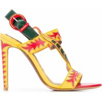 Ralph Lauren Collection Sandália De Tiras Com Salto Agulha - Amarelo