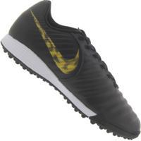 Chuteira Society Nike Tiempo Legend X 7 Academy Tf - Adulto - Preto/Ouro