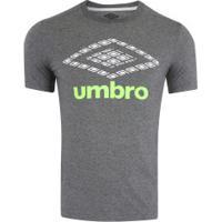 Camiseta Umbro Twr Colors Graphic Classic - Masculina - Cinza Esc Mescla