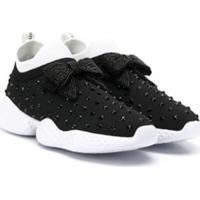 Monnalisa Teen Embellished Slip-On Sneakers - Preto