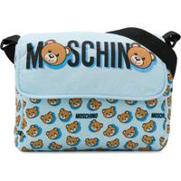 Moschino Kids Bolsa Maternidade Teddy Bear Com Estampa - Azul