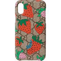 Gucci Capa Para Iphone X/Xs Com Estampa Gucci Strawberry - Estampado