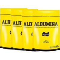 Combo - 4 Albuminas Refil - 500G Natural - Naturovos - Unissex