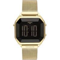 Relógio Technos Crystal Digital Aço 38Mm Feminino - Feminino-Dourado