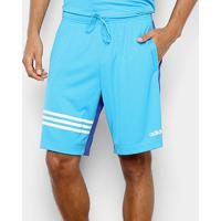 Bermuda Adidas E Pln Masculina - Masculino-Azul Claro
