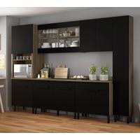 Cozinha Compacta Itamaxi 14 Pt 4 Gv Preta E Castanho