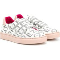 Kenzo Kids Logo Print Sneakers - Branco