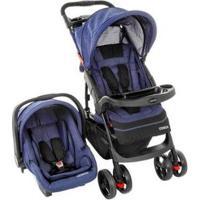 Carrinho De Bebê Com Bebê Conforto Cosco - Unissex-Azul