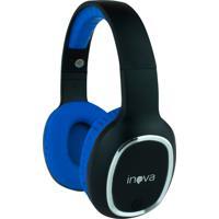 Headphone Inova Sem Fio Stereo Com Microfone - Azul