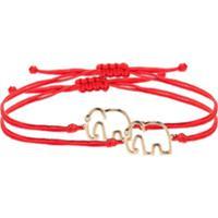 Yvonne Léon 9Kt Gold And Diamond Elephant Bracelet - 113 - Red