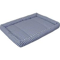 Colchonete Geomã©Trico- Branco & Azul Marinho- 8,5X65Batistela