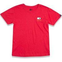 Camiseta New Era Funny Eyes Juvenil - Masculino-Vermelho