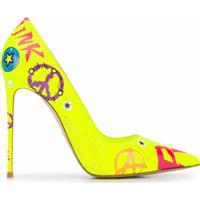 Le Silla Sapato Eva Estampado Com Salto 120Mm - Amarelo