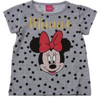 Blusa Infantil Estampa Poá Minnie Disney