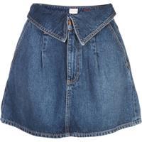 Alice+Olivia Saia Jeans Dobrada Na Cintura - Azul