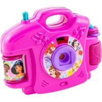 Câmera Fotográfica Princesas®- Pink & Azul Claro- 9Xetilux