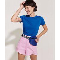 Pochete Feminina Pantone Com Zíper Azul