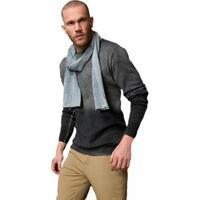 Suéter Tricot Cladar Degradê Masculino - Masculino-Cinza