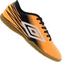Chuteira Futsal Umbro Hit Ic - Adulto - Laranja Preto 951a5a222e434
