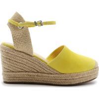 Sandália Espadrille Camurça Yellow | Schutz