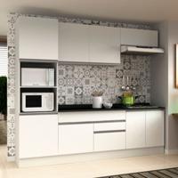 Cozinha Compacta Veneza 8 Pt 2 Gv Branco Com Branco