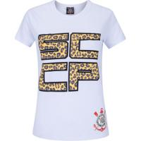Camiseta Do Corinthians Fashion - Feminina - Branco