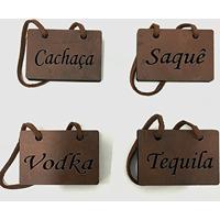 Plaquinhas Identificador Bebidas Cachaça Vodka Tequila Saquê