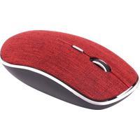 Mouse Twill- Vermelho- 7,5X3,5X12,5Cm- Bluetoothnewex